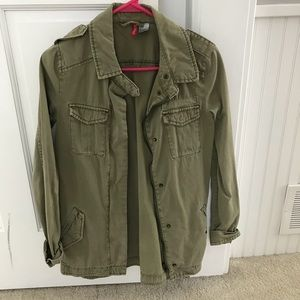 H&M olive green jacket